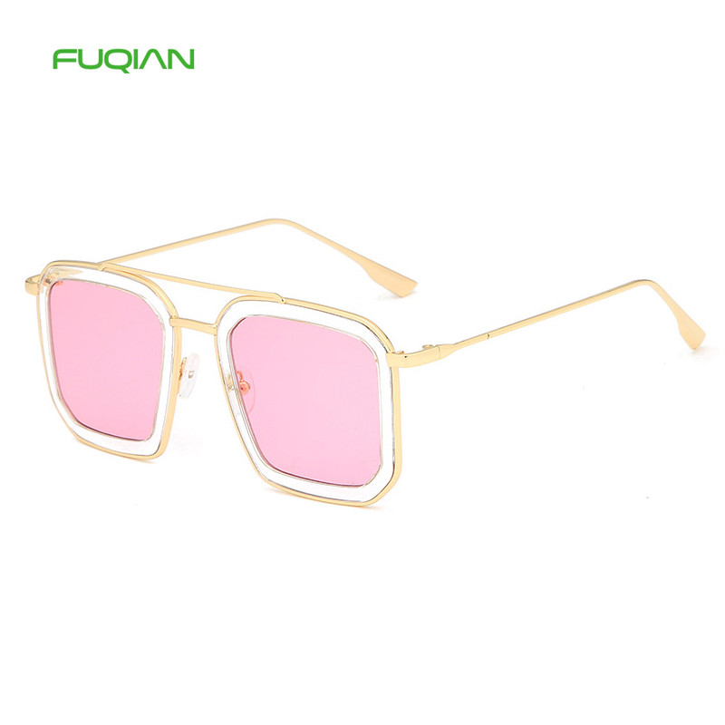 Designer OEM Stylish Square Ladies Glasses Transparent Women Oversize SunglassesDesigner OEM Stylish Square Ladies Glasses Transparent Women Oversize Sunglasses