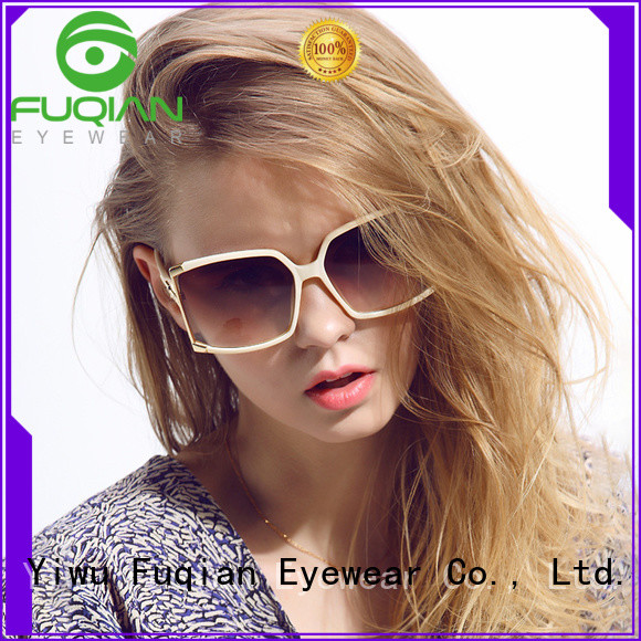 Top gold rim sunglasses for womens Supply for racing