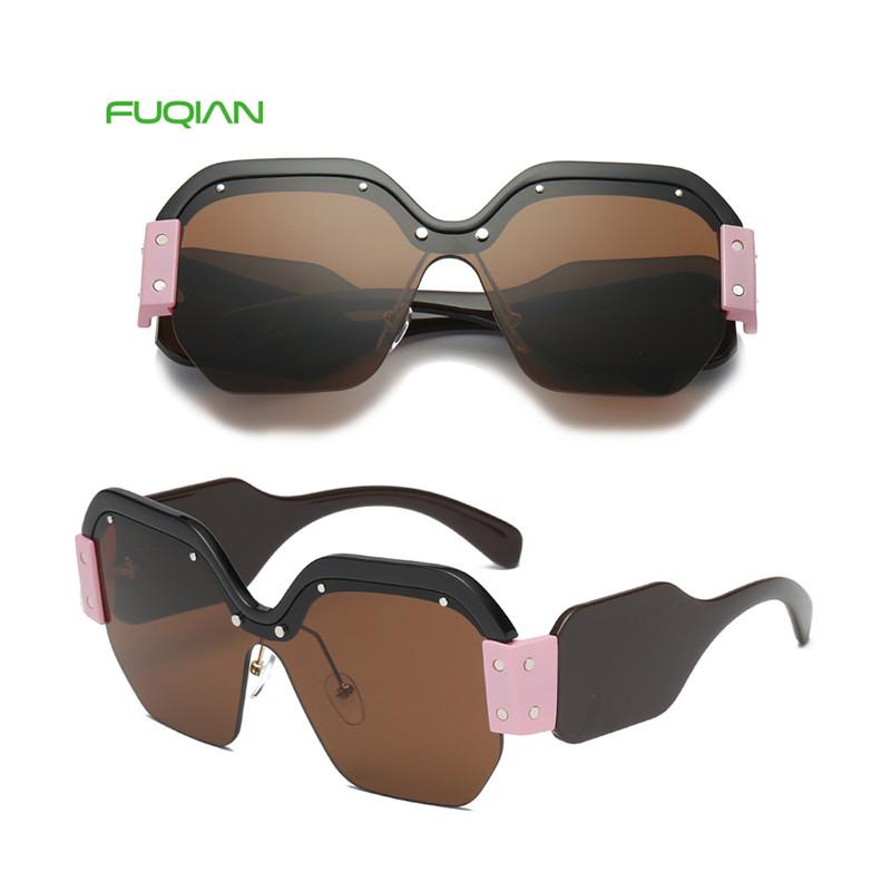 2019 New Arrivals Multi-color Oversized Brand Designer Polygon Women Sunglasses