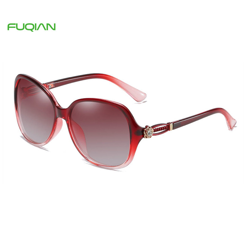 Luxury Oversized Rose Carving Hollow Out Women Polarized SunglassesLuxury Oversized Rose Carving Hollow Out Women Polarized Sunglasses