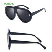 Comtom Logo Printing PC Frame Women Sunglasses Oversize EyewearComtom Logo Printing PC Frame Women Sunglasses Oversize Eyewear