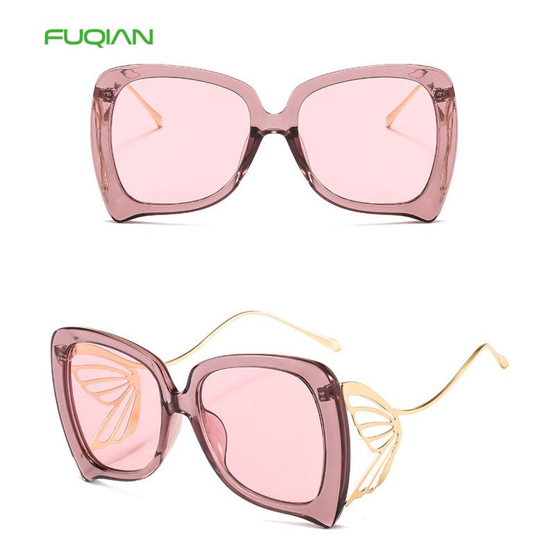 2020 Newest Bending Wings Hollow Frame PC Lens Women Photochromic Sunglasses