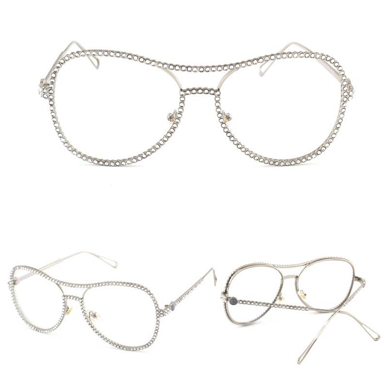 2020 Luxury Rhinestone Oversized Frame Bling Sun Glasses Hollow Round Sunglasses2020 Luxury Rhinestone Oversized Frame Bling Sun Glasses Hollow Round Sunglasses