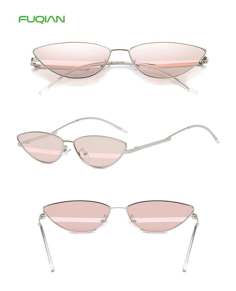 Customized Logo Small Frame Optical Lens UV400 Shades Mirror Women Men Sunglasses