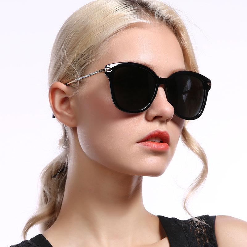 Classic female square metal pc frame eyewear diamond oversized polarized gradient lens sunglassesClassic female square metal pc frame eyewear diamond oversized polarized gradient lens sunglasses