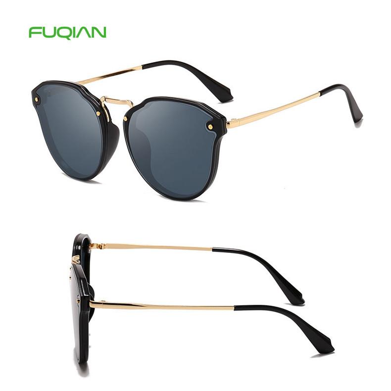 Fashion Metal Plastic Small Frame Cat 3 UV400 Ladies Women Sunglasses