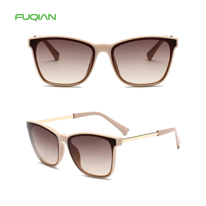 Ready Stock Small Square Frame Cat Eye UV400 Gradient Women Sunglasses
