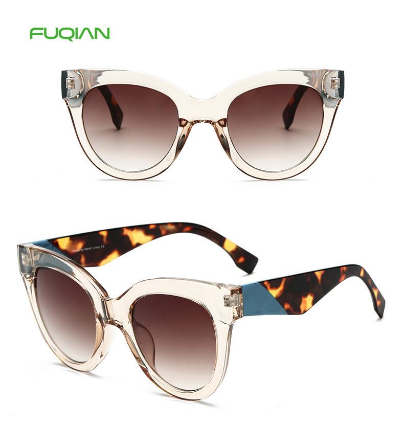 Wholesale OEM Cat 3 UV400 Spectacle Frame PC Gradient Women Sunglasses