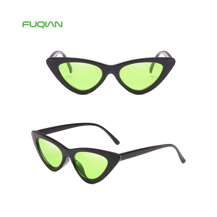 Stylish Triangle PC Frame Cat 3 UV400 Women Shades Oculos Sunglasses