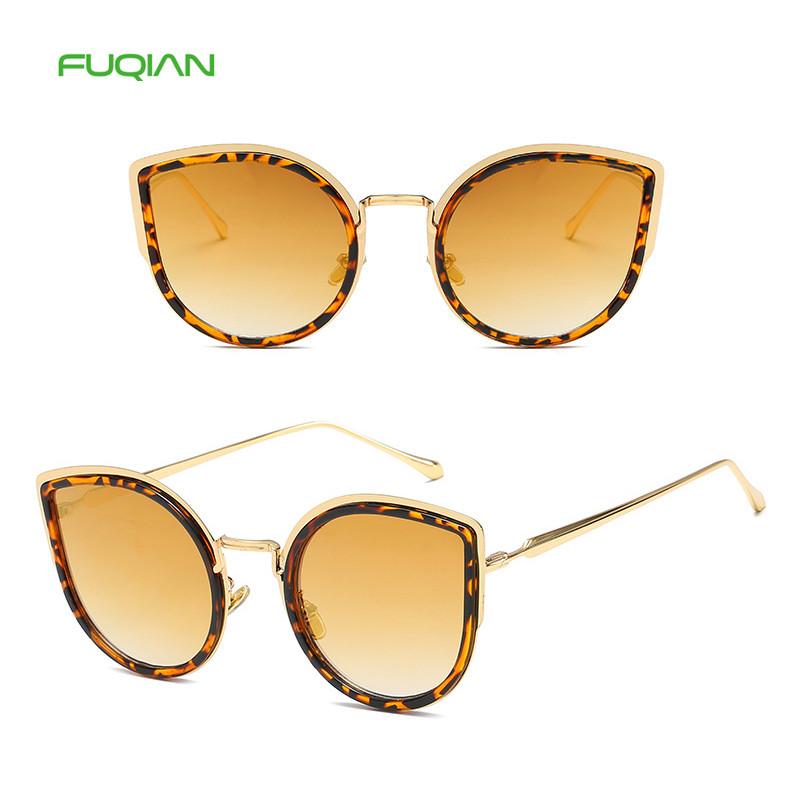 China Manufacturers Mirror Cat Eye Frame UV400 Trendy Women Sunglasses