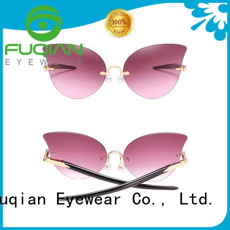 Fuqian girls wholesale fashion sunglasses company for lady