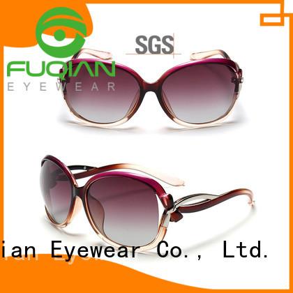 Fuqian lady oversized sunglasses womens Supply for women