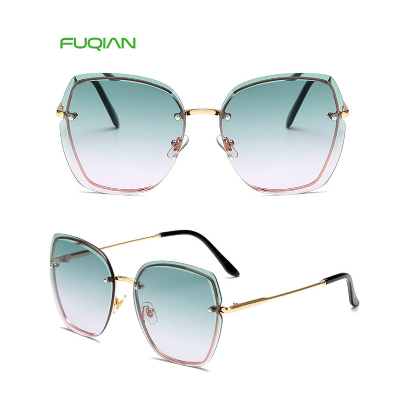 Hot 2019 Gradual Colorful Cat Eye Frame Women Custom Logo Sunglasses