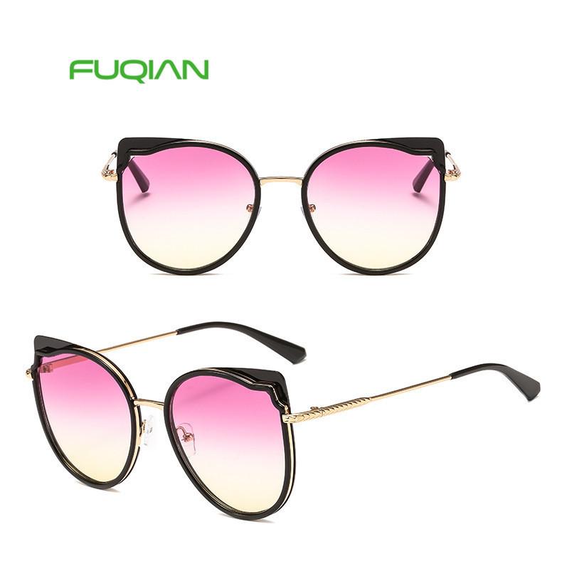 2019 Women Vintage PC Retro Cat eye Sun glasses Female wholesale Eyewear sunglasses