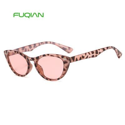 Fashion Leopard Cat Eye Nail Women Retro Classic Small Frame Sunglasses