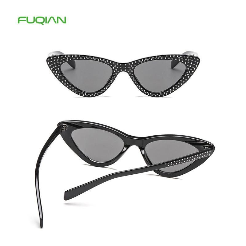 Customized Logo 2019 Brand Oculos De Sol Diamond Women Cat Eye SunglassesCustomized Logo 2019 Brand Oculos De Sol Diamond Women Cat Eye Sunglasses