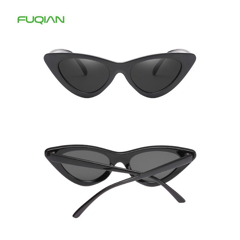 Stylish Triangle PC Frame Cat 3 UV400 Women Shades Oculos Sunglasses