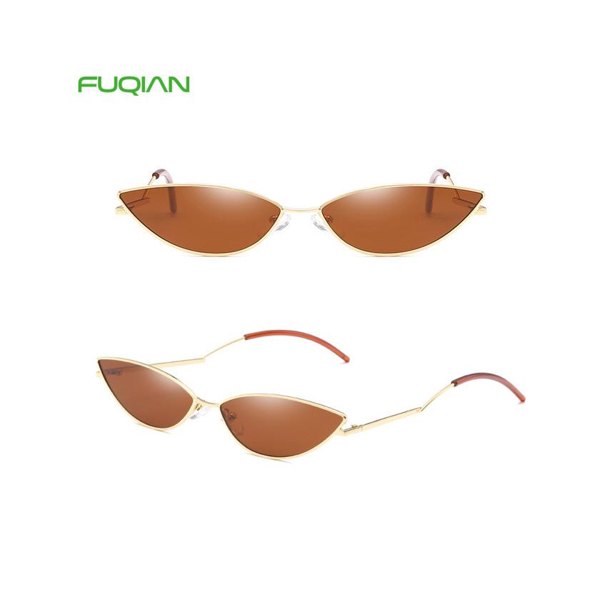 Hip-hop OEM Cat Eye Metal Frame Ladies Festival Party Women Sunglasses