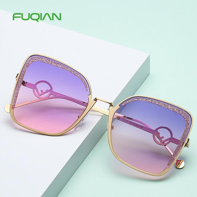 Fashion OEM Oculos De Sol Square Frame Diamonds Ladies Cat Eye SunglassesWholesale Fashion Square Frame Diamonds Ladies Cat Eye Sunglasses