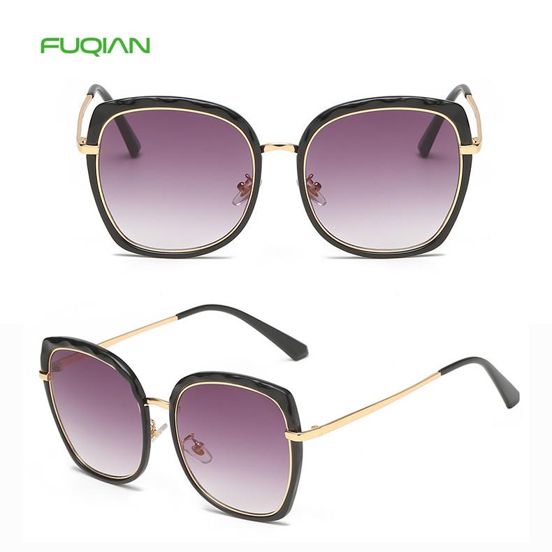 Stylish Private Label OEM Super Star Wave Frame Cat Eye Women SunglassesStylish Private Label Super Star Wave Cat Eyes Women Sunglasses