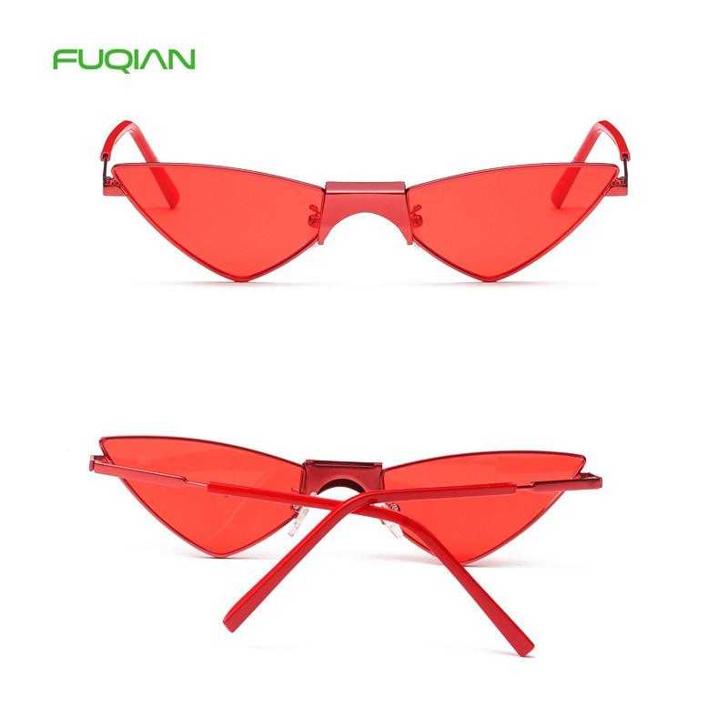 New Style Metal Small Frame Korean Triangle Women Cat Eye EyewearsNew Style Metal Small Frame Korean Triangle Women Cat Eye Eyewears