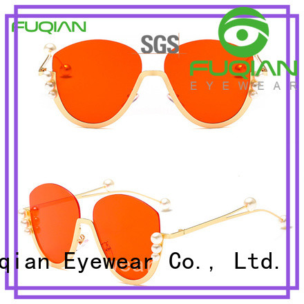 Fuqian gold rim sunglasses for womens ask online for sport