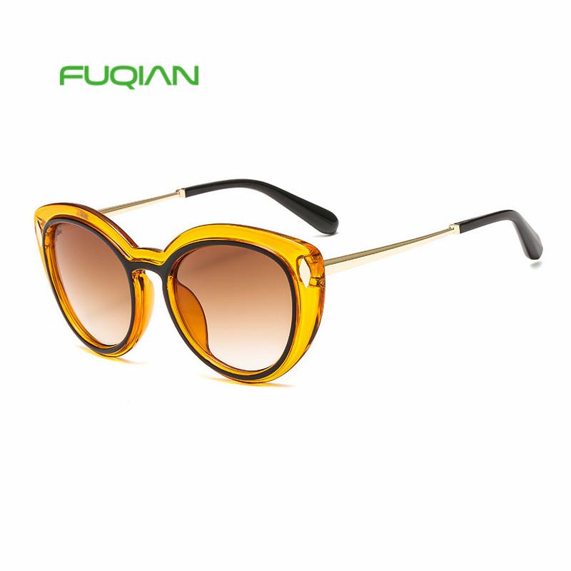 2019 new fashion rice nail femme women sunglasses two-color box cat eye glasses