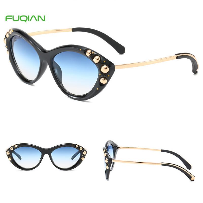 Custom Logo Popularity Photochromic Rivet Women Cat Eye SunglassesCustom Logo Popularity Photochromic Rivet Women Cat Eye Sunglasses