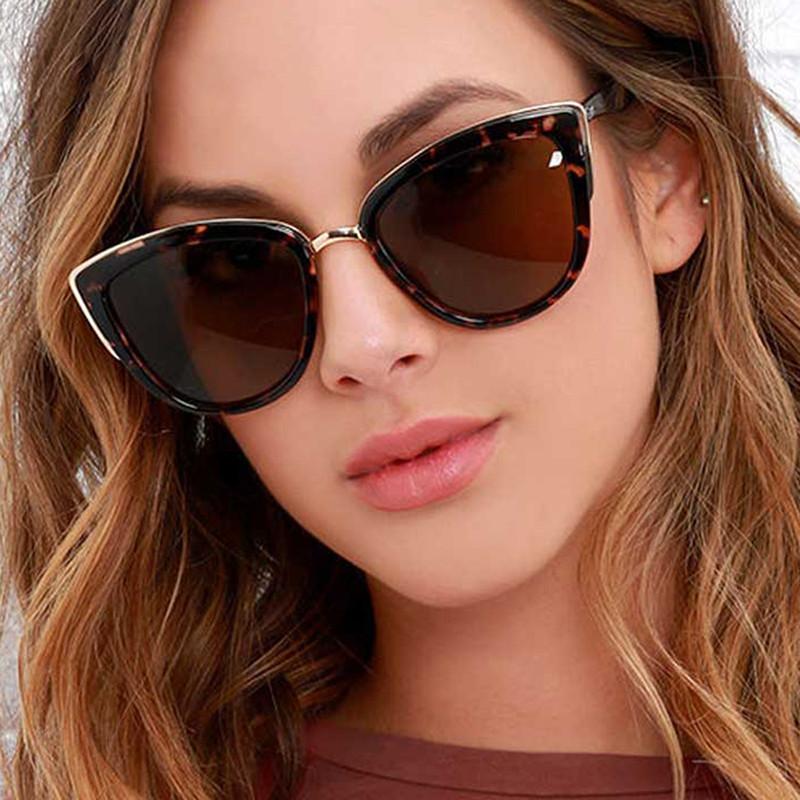 2019 New Arrivals Dazzle Colored UV400 Cat Eye Frame Women Sunglasses