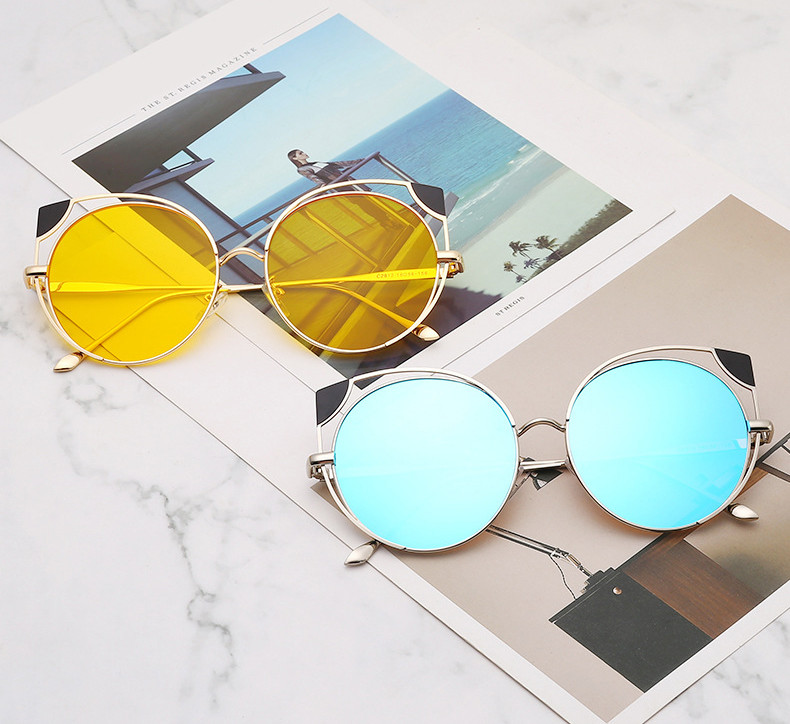2019 Hot sale gold frame cat eye glasses sunglasses cheap promotion women Sunglasses with UV400 protection2019 Hot sale gold frame cat eye glasses sunglasses cheap promotion women Sunglasses with UV400 protection