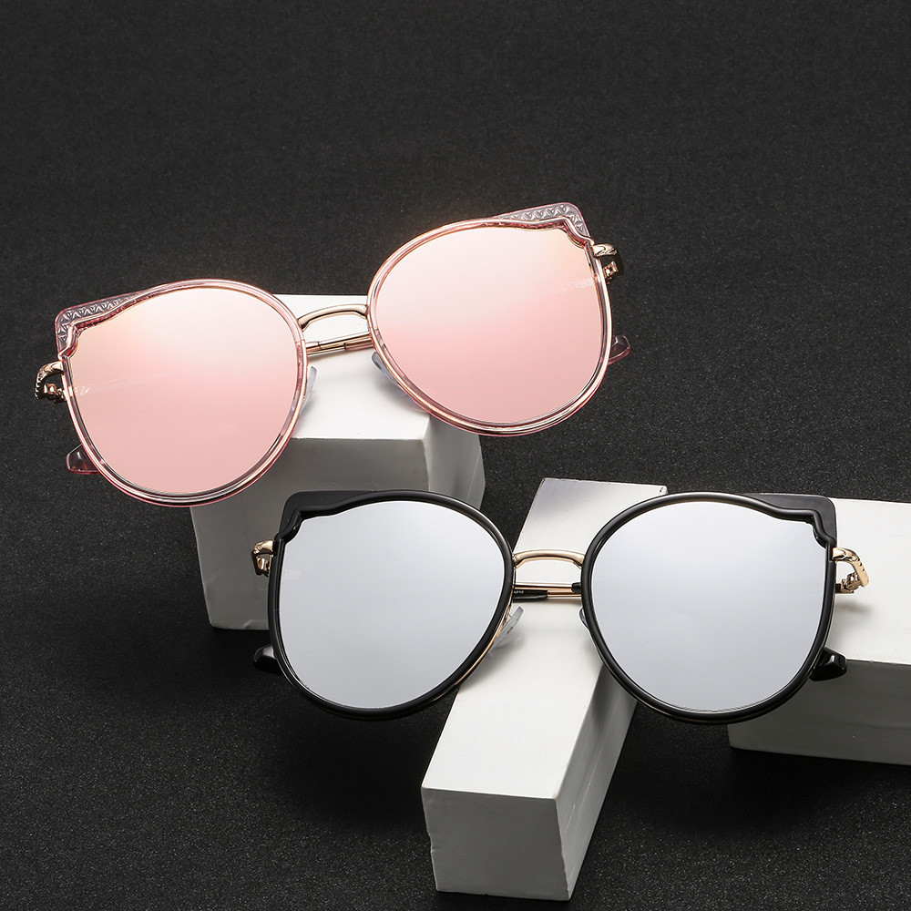2019 Women Vintage PC Retro Cat eye Sun glasses Female wholesale Eyewear sunglasses