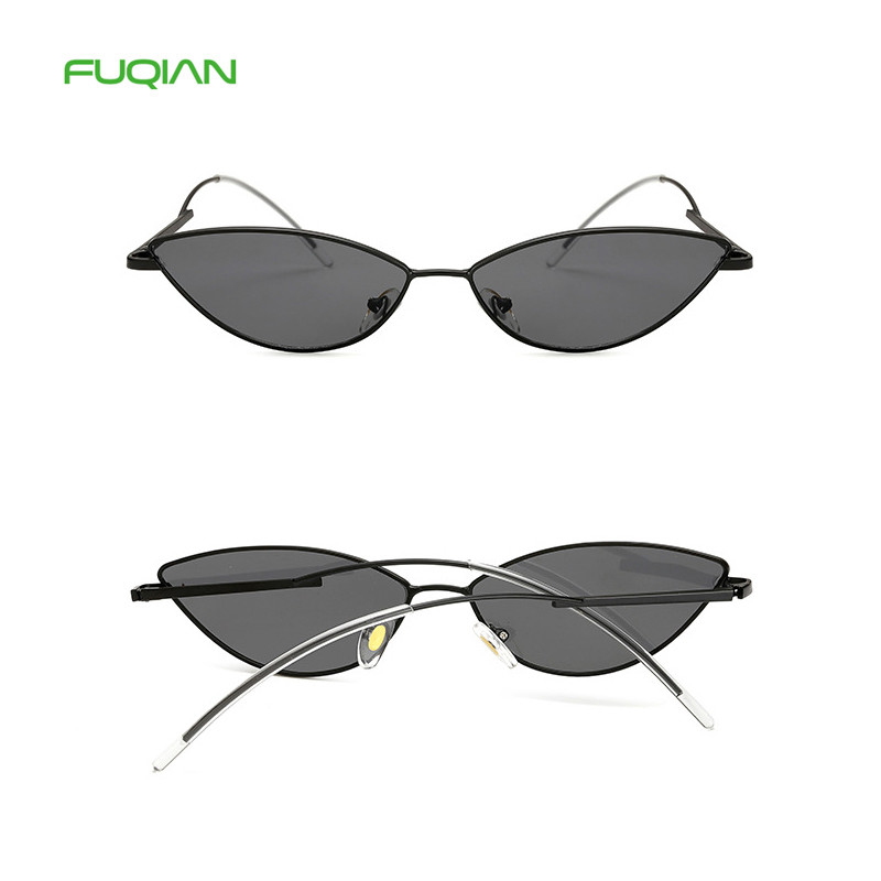 New Trending Vintage Small Alloy Thin Frame Shades Sexy Cat EyeWomen Sunglass New Trending Vintage Small Alloy Thin Frame Shades Sexy Cat Eye  Women Sunglass