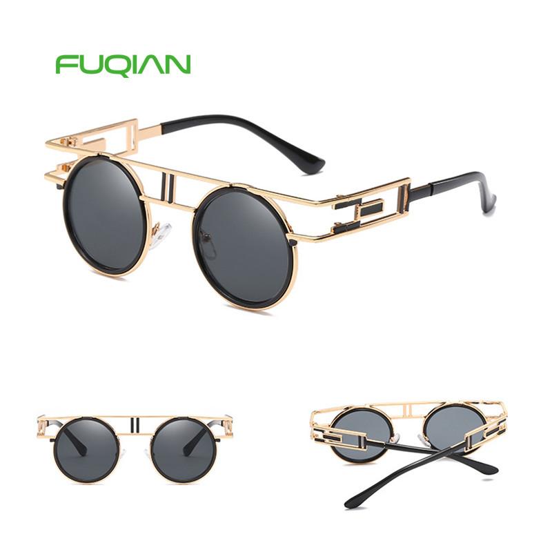 Brand Designer OEM China Manufacturers Oval Round Frame Men Sunglasses