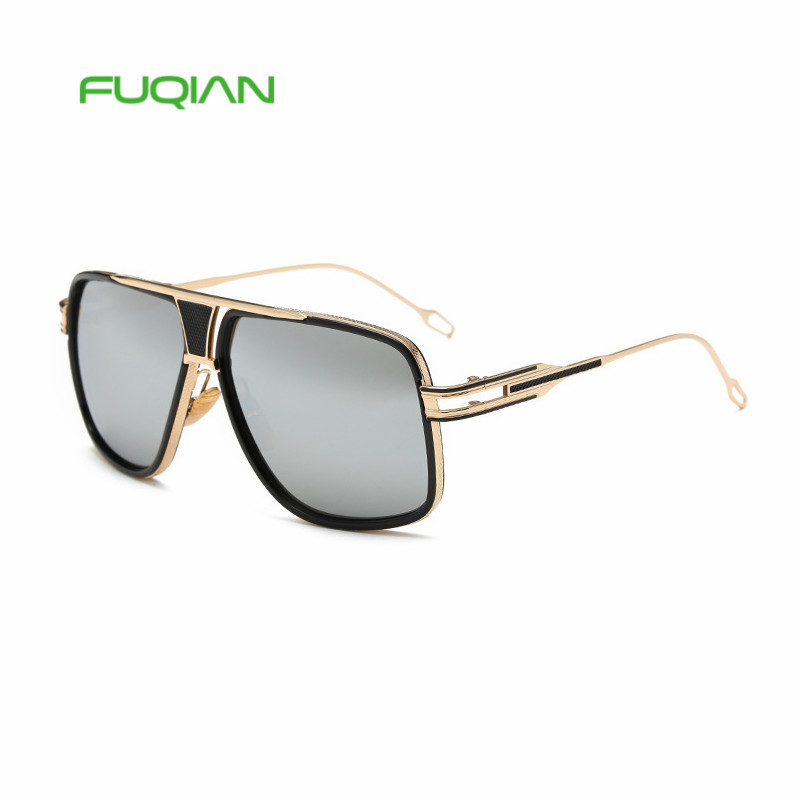 Brand Designer Custom Logo Men Square Fashion 2019 Women Sunglasses
