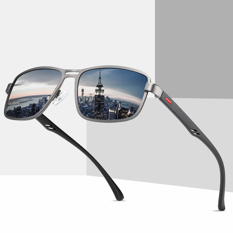 New Arrivals Designer Metal Polarized Retro Square Sunglasses MenNew Arrivals Designer Metal Polarized Retro Square Sunglasses Men