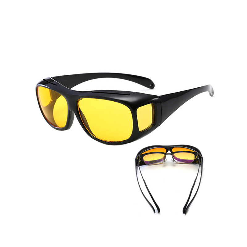 2019 Hot Night Vision Goggles Dust-Proof Riding Glasses Multi-Function Mirror Driving Anti-Glare Windproof Sunglasses2019 Hot Selling Wrap Around HD Night Vision Goggle Glasses Driving Sunglasses