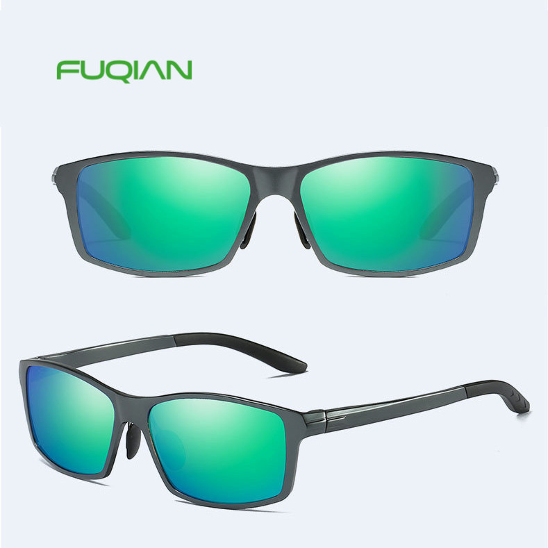 Fuqian eyewear classicsquare polarizedsports driving custom logo men sunglassesFuqian eyewear classic  square polarized  sports driving custom logo men sunglasses