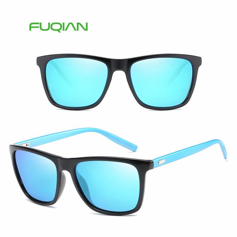 Classic outdoor square polarized eyewear CE UV400 FDA men sunglasses