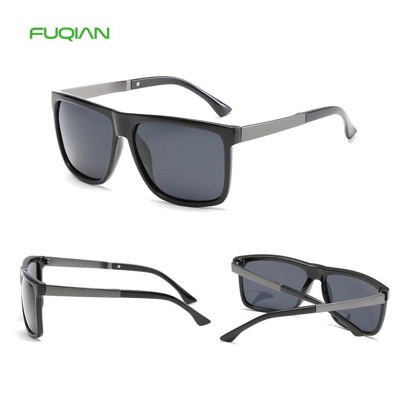 Cheap promotion driving square polarized custom logo mens sunglasses