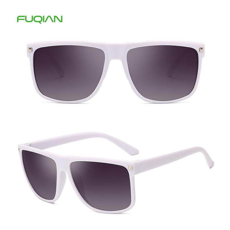 Fashion Square Frame 100% UV Protection Men TAC Custom Logo Sunglasses