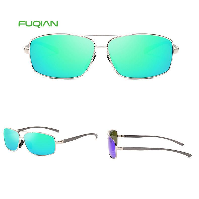 Retro Hot 2019 Polarized TAC Small Frame Square Shades Men Aluminum Magnesium Sunglasses