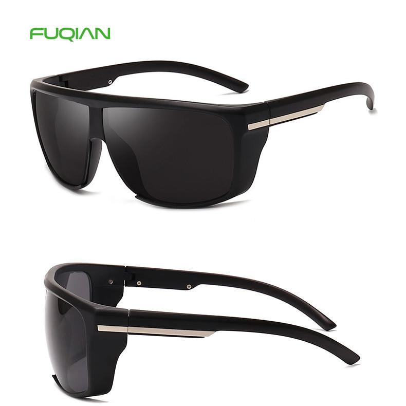 Retro UV400 Polarized MIrror Plastic Frame Men Square 2019 Sunglasses