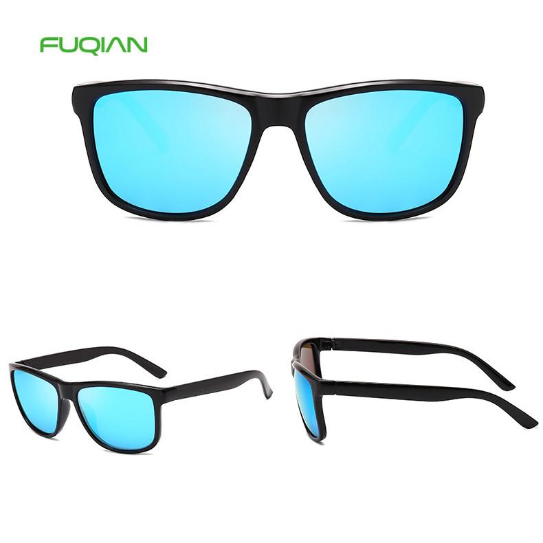 Promotion OEM Polarized Square Fashion Mirror Shades Men TAC Eyewear