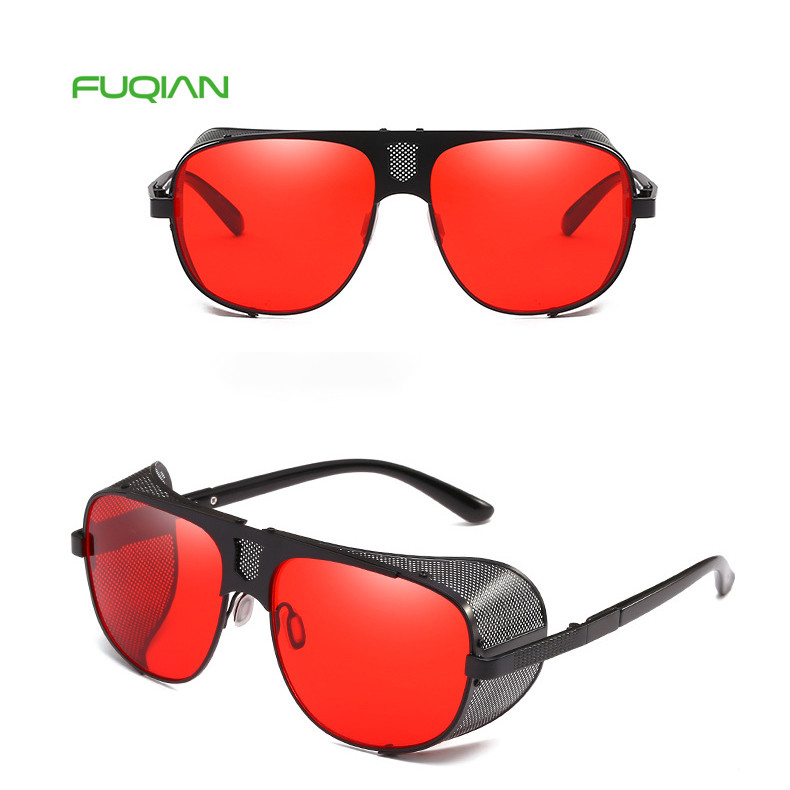 Brand Designer Square Tony Stark Metal Frame Men Retro UV400 Eyewear