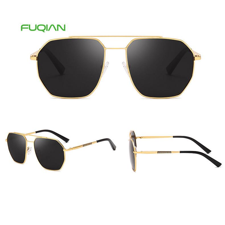 Classic 2019 Irregular Square Men Metal Material Polarized Sunglasses