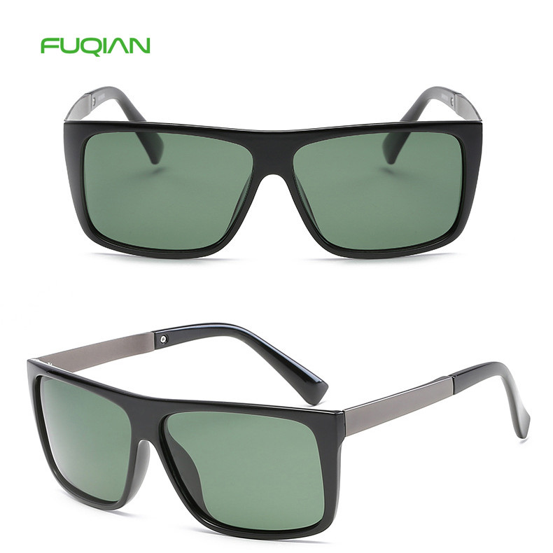 Ready Stock Hot 2019 Men Square Polarized TAC Mirror PC Frame Sunglasses