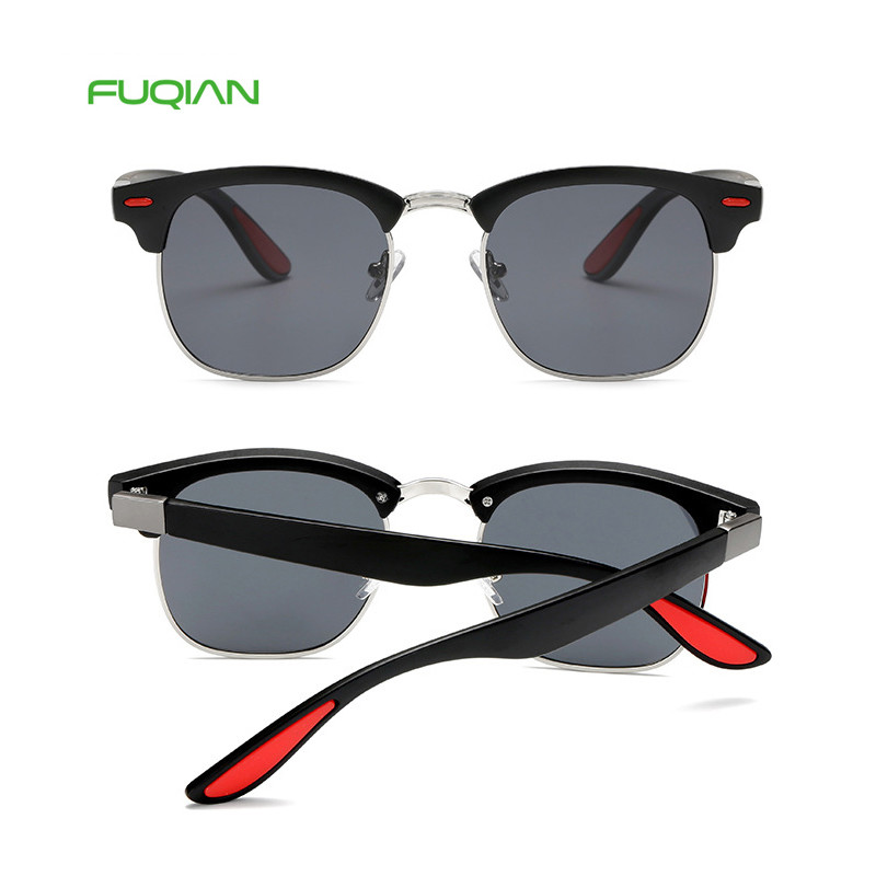 Hot 2019 Brand Designer TAC Square Semi-frame Polarized Men Sunglasses