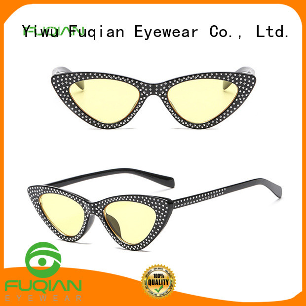 Fuqian Latest oversized designer sunglasses customized for lady