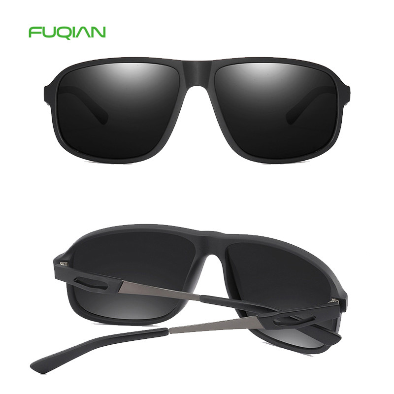 High Quality Square Polarized TR90 Pilot Men Private Label Sunglasses