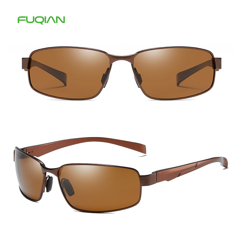 Hot 2019 Classic Small Square Metal Frame TAC Polarized Men Sunglasses